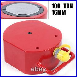 100Ton LOW HEIGHT Profile Hydraulic Cylinder Jack Ram Lifting 16mm Stroke