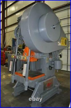 100 Ton Federal Flywheel Type Obi Press 4 Stroke 15.5 Shut Height 3 Ram Adjus