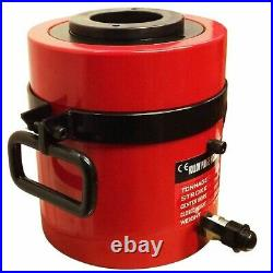 100 Ton Hollow Plunge Hydraulic Cylinder Ram Jack 75mm Stroke