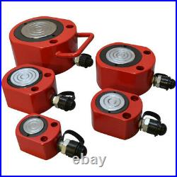100 Ton LOW HEIGHT Profile Hydraulic Cylinder Jack Ram Lifting 16mm Stroke