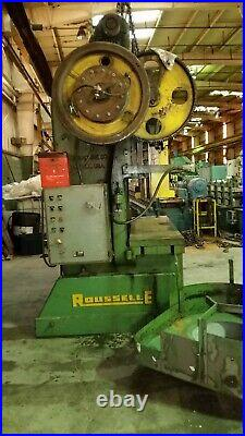 100 Ton Rousselle Double Crank Gap Frame Press 6 Stroke 15 Shut Height 4 Ram