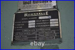 100 Ton Rousselle SSDC Press Stroke 6 SH 19.25 Ram Adj 4 SPM 50 Bed 60x30