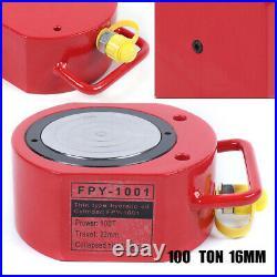 100 tons Hollow Hydraulic Cylinder Jack Localfast Safe 16mm Stroke Ram