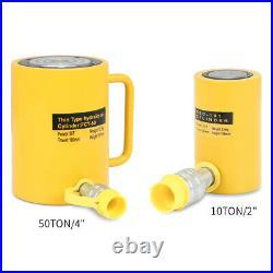 10/50 Tons 2/4 Stroke Single Acting Ram Hydraulic Cylinder Jack