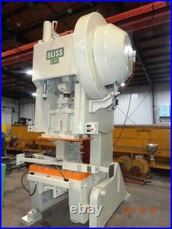 110 Ton Bliss OBI Press 6 STROKE 21 SHUT HEIGHT 4 RAM ADJUSTMENT 42 x 27 BE