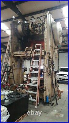 150 Ton Verson Double Crank Gap Frame Press 16 Stroke 6 Powered Ram Adjustment