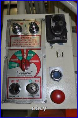 150 Ton Verson Gap Frame Press 8 Stroke 22 Shut Height 6 Ram Adjustment 35 Sp