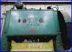 150 Ton Verson Model 6B60 Straight Side Press- 6 Stroke, 16 Shut, Power Ram