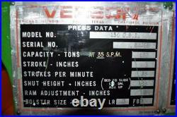 150 Ton Verson Obi Press 8 Stroke 6 Power Ram Adjustment 22 Shut Height 35 Sp