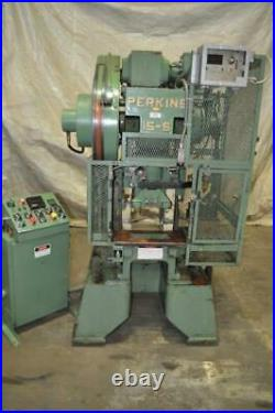 15 Ton Perkins Gap Frame Press 1 1/2 Stroke 2 1/4 Ram Adjustment 7 3/4 Sh