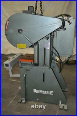 15 Ton Rousselle Obi Press 2 Stroke 1.5 Ram Adjustment 7 3/4 Shut Height 16.5