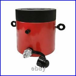 200 Ton 2 Stroke Hydraulic Cylinder Jack Ram 7.25 Closed Height WithLock Nut