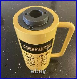 20T Ton Hollow Hydraulic Cylinder Jack Ram Puller Hole 100mm Stroke UK SELLER