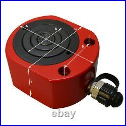 20 Ton 26mm 1.02Stroke Multi Stage Hydraulic Cylinder Flat Jack Low Profile Ram