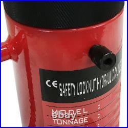 20 Ton 6 Stroke Hydraulic Cylinder Lifting Jack Ram 10 Closed Height Lock Nut