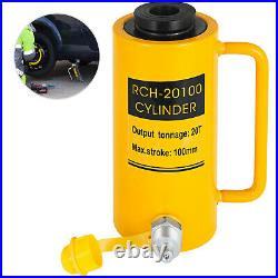 20 tons 4 Hollow Hydraulic Cylinder Jack Localfast Safe 100mm/4inch Stroke Ram