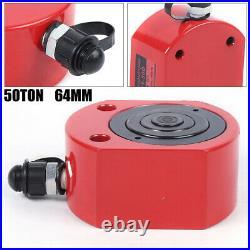 2.52 Stroke Ram Low Profile Flat Lift Cylinder 50 Ton Hydraulic Cylinder Jack