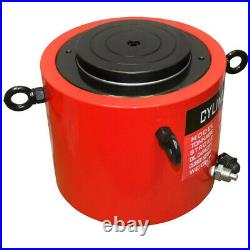 300 Ton Hydraulic Lifting Cylinder 5.90 (150mm) Stroke Jack Ram Pressure Pump