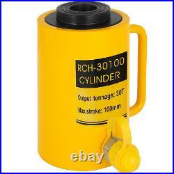 30Ton 4 Stroke Hollow Hydraulic Cylinder Jack Localfast 100mm/4inch Ram Metal
