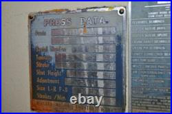 32 TON NIAGARA OBI PRESS 3 STROKE 2.25 RAM ADJUSTMENT 15 SHUT HEIGHT 24 x 15