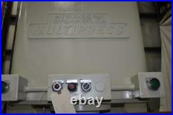 35 TON DENISON HYDRAULIC PRESS 12 STROKE 24 DAYLIGHT 16 x 8 RAM 32 x 20 BE