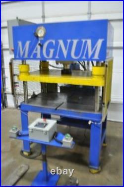 35 Ton Magnum 4 P0st Hydraulic Press 10 Stroke 14-3/4 Daylight 6 Ram Bore 35