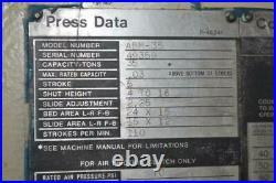 35 Ton Niagara Horn Press 5 Stroke 4 16 Shut Height 2.25 Ram Adjustment 11