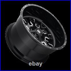 (4) 20x12 Fuel Black & Mill Stroke Wheel 5x139.7 & 5x150 For Ford Jeep Toyota GM