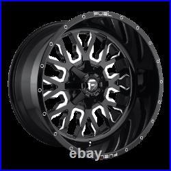 (4) 22x10 Fuel Black & Mill Stroke Wheel 5x139.7 & 5x150 For Ford Jeep Toyota GM