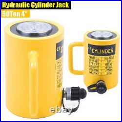 50-Ton 4Stroke Hydraulic Cylinder Jack Single Acting Lifting Ram 635CC Cylinder