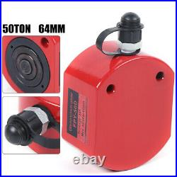 50 Ton 64mm 2.52 Stroke Hydraulic Cylinder Flat Jack Low Profile Ram FAST SHIP
