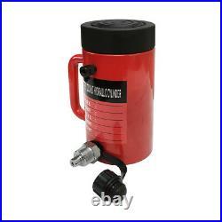 50 Ton 6 Stroke Hydraulic Cylinder Lifting Jack Ram 10 Closed Height Lock Nut