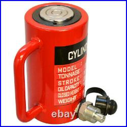 50 Ton Hydraulic Cylinder 3.93 (100mm) Stroke Jack Ram 175mm Closed Height