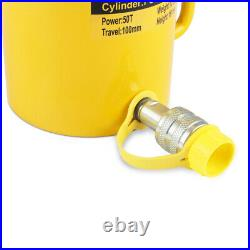 50 Tons 4 100mm Stroke Single Acting Hydraulic Cylinder Jack Ram FCY-50