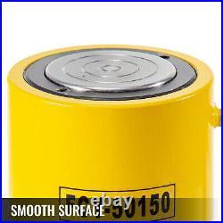 50 Tons 6'' 150mm Stroke Single Acting Hydraulic Cylinder Jack Ram Heavy Duty