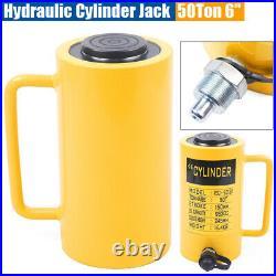 50 Tons 953 cc Hydraulic Cylinder Jack, Single Acting 6 inch(150mm) Stroke Ram