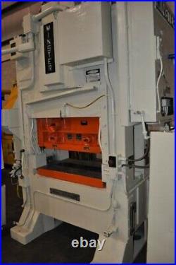 60 TON MINSTER SSDC PRESS 1.25 STROKE 15.5 SHUT HEIGHT 2 RAM ADJUSTMENT 42 x