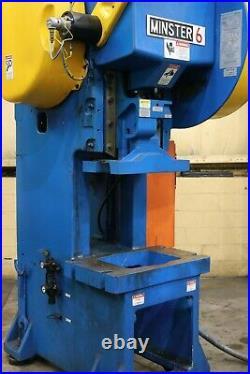60 Ton Minster OBI Press Stroke 4 inches Ram Adjustment 2.75 Shut Height 1