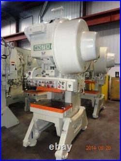 60 Ton Minster Obi Press 3.5 Stroke 13.25 Shut Height 2.75 Power Ram Adjustme