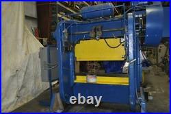 80 Ton Rousselle Double Crank Gap Frame Press Stroke 6 inches Ram Adjustment