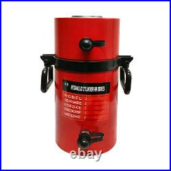 Double Acting 100-Ton Hydraulic Cylinder 8 Stroke Jack Ram 15.35 Closed Height