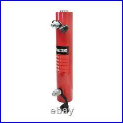 Double Acting 10-Ton Hydraulic Cylinder 10 Stroke Jack Ram 16 Closed Height