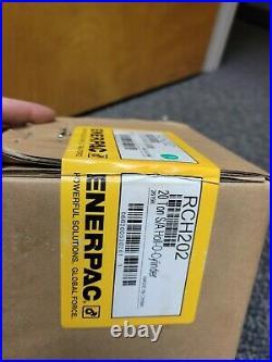 Enerpac Rch202 Hydraulic Cylinder Hollow Ram 20 Ton 2 Stroke Brand New Rch-202