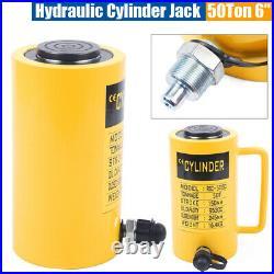 Heavy Duty 50 Tons 6 Stroke Hydraulic Cylinder Jack Single Acting Hollow Ram