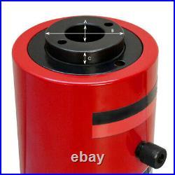 Hollow Plunger 30 Ton Hydraulic Cylinder Jack Ram 3.93 (100mm) Stroke