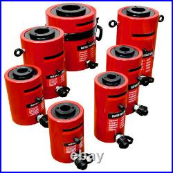 Hollow Plunger 60 Ton Hydraulic Cylinder Jack Ram Lifting 1.96 (50mm) Stroke