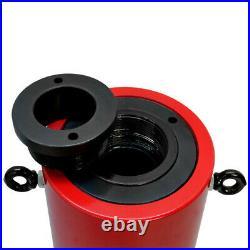 Hollow Plunger 60 Ton Hydraulic Cylinder Jack Ram Lifting 3.93 (100mm) Stroke