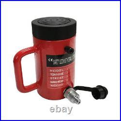 Lock Nut 50-Ton Hydraulic Cylinder 4 Stroke Jack Ram 8 Closed Height