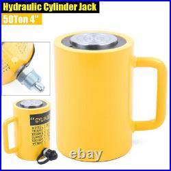 NEW 50-Ton 4Stroke Single Acting Telescopic Hydraulic Cylinder Lifting Jack Ram
