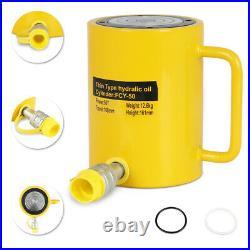 NEW 50 Tons 4 100mm Stroke Single Acting Hydraulic Cylinder Jack Ram US Stock